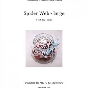 Spider Web - large: a net bowl cover
