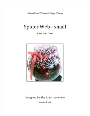 Spider Web: a small net bowl cover