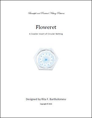 Net Coaster Insert: Floweret Circular