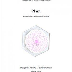 Net Coaster Insert: Plain Circular