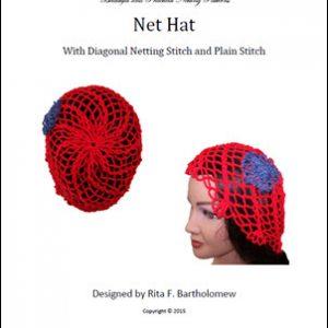 Net Hat: Diagonal Netting Stitch and Plain Stitch
