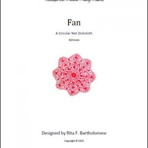 Circular Dishcloth: Fan