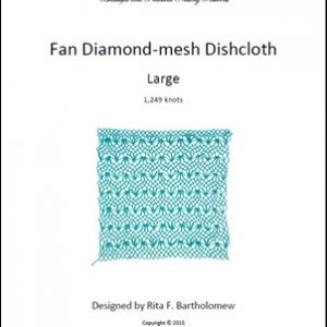 Diamond-mesh Net Dishcloth: Fan - large