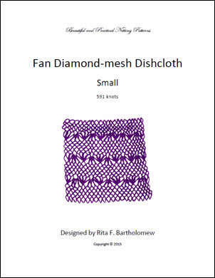 Diamond-mesh Net Dishcloth: Fan - small