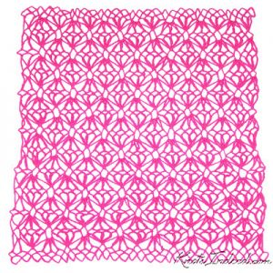 a diamond-mesh net dishcloth