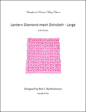 Diamond-mesh Net Dishcloth: Lantern - large