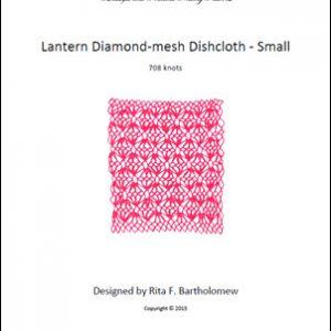 Diamond-mesh Net Dishcloth: Lantern - small