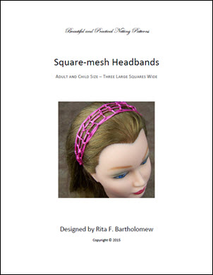 Square-mesh Headband with 3 Large Squares