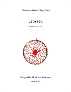 Net Suncatcher: Crossed - 3 inch