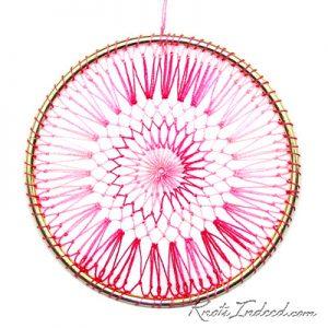 Net Suncatcher: Cymbal - 4 inch (pink)