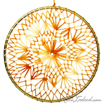 Net Suncatcher: Flame - 5 inch