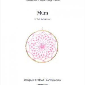 Net Suncatcher: Mum - 5 inch