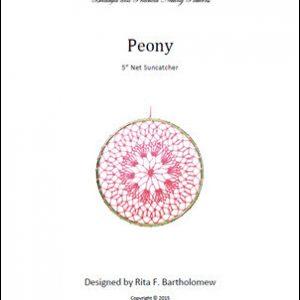 Net Suncatcher: Peony - 5 inch