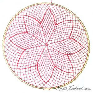 Net Suncatcher: Poinsettia - 6 inch