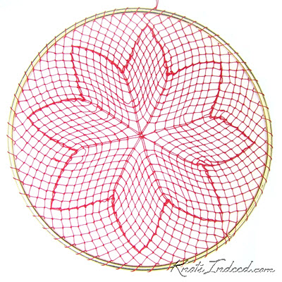 Poinsettia Suncatcher 6 Inch Knots Indeed Beautiful And