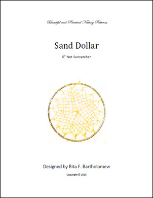 Net Suncatcher: Sand Dollar - 5 inch
