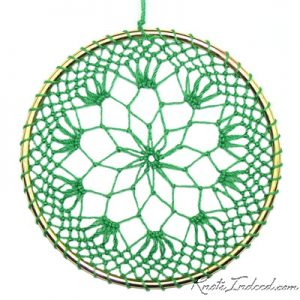 Net Suncatcher: Scimitar - 4 inch (green)
