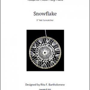 Net Suncatcher: Snowflake - 5 inch