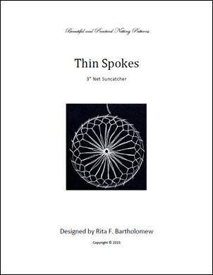 Net Suncatcher: Thin Spokes - 3 inch