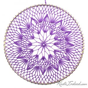Net Suncatcher: Twirl - 6 inch (purple)