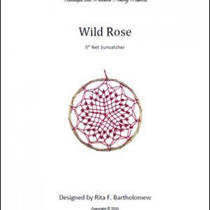 Net Suncatcher: Wild Rose - 5 inch