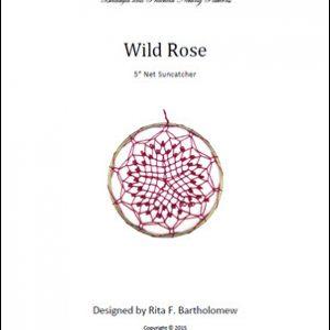 Net Suncatcher: Wild Rose - 5 inch