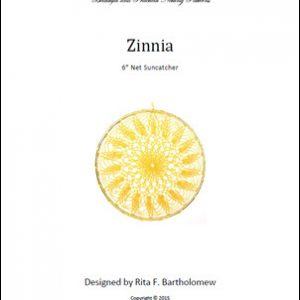 Net Suncatcher: Zinnia - 6 inch