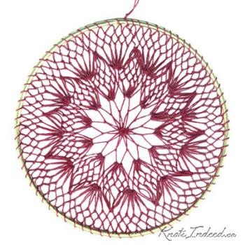 Net Suncatcher: Twirl - 6 inch (red)